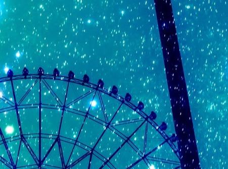 観覧車と星